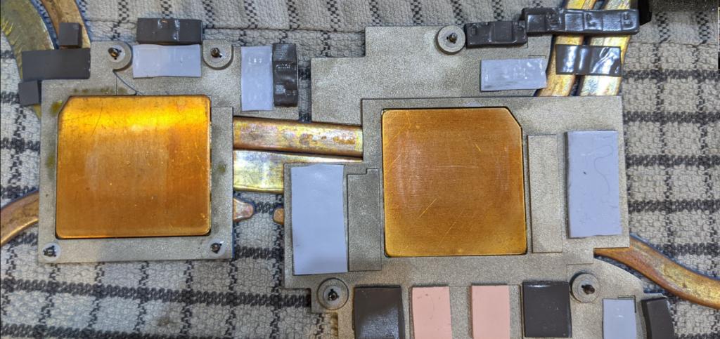 Cleaned Heatsink g7 7590 laptop